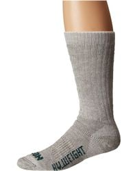 Filson - Heavyweight Traditional Crew Sock (gray Heather) Crew Cut Socks Shoes - Lyst