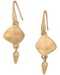 The Sak - Metal Double Drop Earrings - Lyst