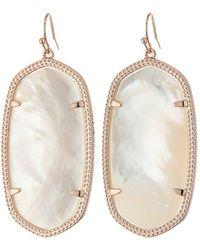 Kendra Scott - Danielle Earrings (rose Gold/ivory Mother Of Pearl) Earring - Lyst