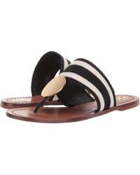 19e34d7a483 Tory Burch - Patos Disk Sandal (brilliant Red gold) Women s Sandals - Lyst