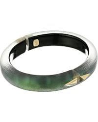 Alexis Bittar - Golden Studded Hinge Bracelet (blue Grey) Bracelet - Lyst