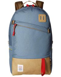 Topo Designs - Daypack (navy Leather) Backpack Bags - Lyst
