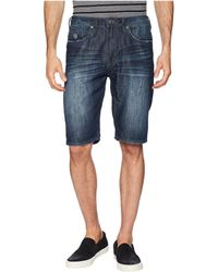 Buffalo David Bitton - Dean Straight Fit Shorts (bleached And Veined) Men's Shorts - Lyst