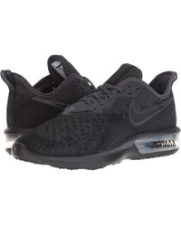Nike - Air Max Sequent 4 (black/black/white) Women's Running Shoes - Lyst