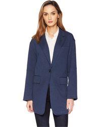 Kenneth Cole - Pebble Jersey Oversized Jacket (billboard Blue Heather) Women's Coat - Lyst