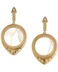 House of Harlow 1960 - Luna Stone Statement Earrings (rose Gold/purple Agate) Earring - Lyst