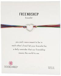 Dogeared - Friendship Linked Open Hearts Rainbow Bracelet - Lyst