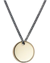 Miansai - Fusion Pendant Necklace (polished Gold/silver) Necklace - Lyst