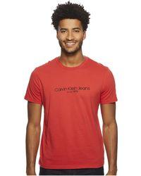 Calvin Klein Jeans | Old School Logo Crew Neck Tee | Lyst