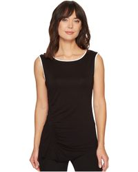 Vince Camuto - Extend Shoulder Asymmetrical Side Ruched Top - Lyst