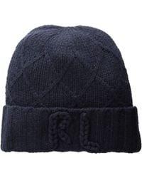 Polo Ralph Lauren - Chainstitch Rl Hat (navy) Beanies - Lyst