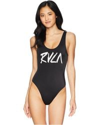 RVCA - Blackout One-piece (black) Women's Swimsuits One Piece - Lyst