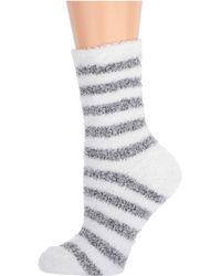 Karen Neuburger Chenille Stripe Sock - Black