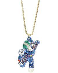 Betsey Johnson - Elephant Pendant Long Necklace (blue) Necklace - Lyst