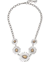 Lucky Brand | Floral Collar Necklace | Lyst