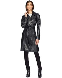 Blank NYC - Vegan Leather Trench Coat In The Punisher (the Punisher) Women's Coat - Lyst