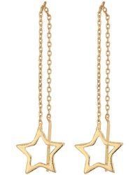 Steve Madden - Star Threader Post Earrings (gold) Earring - Lyst