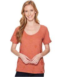 Woolrich - Eco Rich Bell Canyon Tee (bijou Blue) Women's T Shirt - Lyst