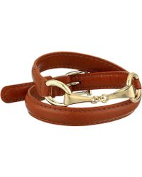 Lauren by Ralph Lauren - Saddle 16 Leather Wrap Bracelet (brown) Bracelet - Lyst