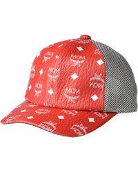 5706d545038 MCM - Classic Mesh Cap In Visetos (white Logo viva Red) Caps -