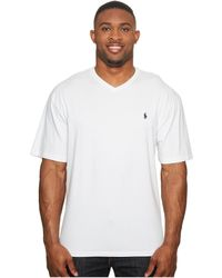 Polo Ralph Lauren - Big And Tall Classic V-neck T-shirt (new Grey Heather) Men's T Shirt - Lyst