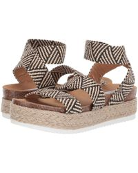 a8f08923a658 Steve Madden - Kimmie Espadrille Sandal (black Multi) Women s Shoes - Lyst
