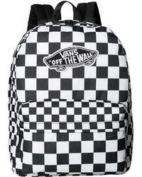 Vans - Realm Backpack (mega Check) Backpack Bags - Lyst