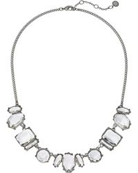 """French Connection - Multi Stone Collar Necklace 17"""" - Lyst"""