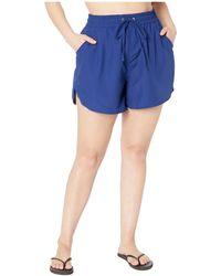 24th & Ocean - Plus Size Solids Board Swim Shorts - Lyst