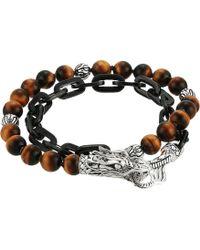 John Hardy - Legends Naga Wrap Bracelet With Tiger Eye - Lyst