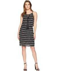 Two By Vince Camuto - Zigzag Stripe Cinch Waist Halter Dress - Lyst