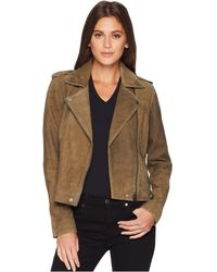 Lucky Brand - Helen Leather Moto Jacket (khaki Olive) Women's Coat - Lyst