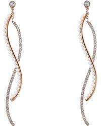 Swarovski - Major Pierced Earring Jackets (white) Earring - Lyst