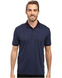 Calvin Klein - Liquid Cotton Stripe Polo (black) Men's Short Sleeve Knit - Lyst