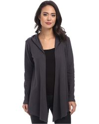 Allen Allen - Hooded Open Cardigan (black) Women's Sweater - Lyst