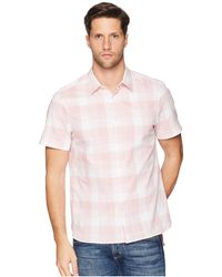 Perry Ellis - Essential Plaid Pattern Shirt (himalayan Pink) Men's Clothing - Lyst