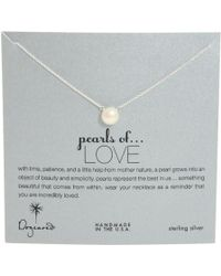 Dogeared - Pearls Of Love Necklace - Lyst