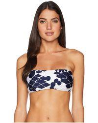 Trina Turk - Bali Blossoms Bandeau Top (midnight) Women's Swimwear - Lyst