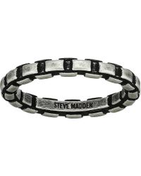 Steve Madden - Printed Chain Design Ring In Oxidized Stainless Steel (silver) Ring - Lyst