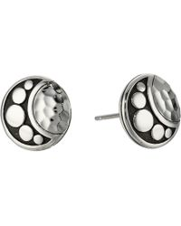 John Hardy - Dot Moon Phase Hammered Stud Earrings (hammered Silver) Earring - Lyst