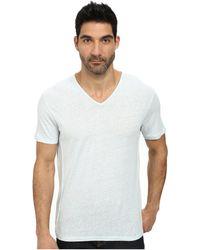 John Varvatos - Short Sleeve Knit V-neck With Pintuck Seam Details - Lyst