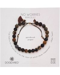 Dogeared - No Worries Bracelet, Jasper Bead Stone Bracelet With Nylon Pull Cord - Lyst