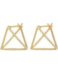Shashi - Pyramid Earrings - Lyst