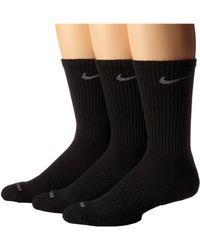 Nike - 3 Pair Pack Dri-fit Cushion Crew (white/flint Grey) Crew Cut Socks Shoes - Lyst