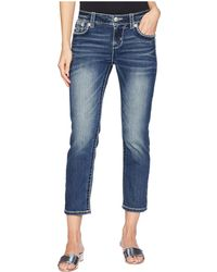 Miss Me - Mid-rise Capri Jeans In Medium Blue - Lyst