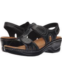 Clarks - Lexi Walnut Q (black) Women's Sandals - Lyst
