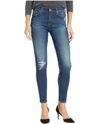 AG Jeans - Farrah Skinny Ankle In 11 Years Shifted Mended (11 Years Shifted Mended) Women's Jeans - Lyst