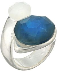 Robert Lee Morris - Double Stone Wrap Ring (blue) Ring - Lyst