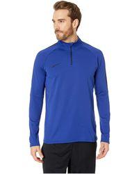 Nike - Dry 1/4 Zip Soccer Drill Top (obsidian/obsidian/white) Men's Clothing - Lyst