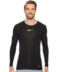 dca82dc9 Nike - Pro Compression Long Sleeve Training Top (black/white/white) Men's